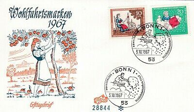 Germany 1967 Relief Funds FDC Unaddressed VGC
