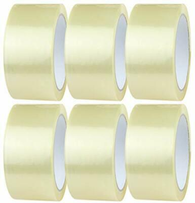 6 Rolls per Pack 48mm x 66m Clear Packaging Tape for Parcels and Boxes. This...