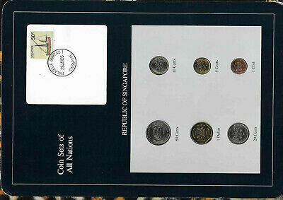 Coin Sets of All Nations Singapore UNC 1986-1988 $1,5 cents 1988