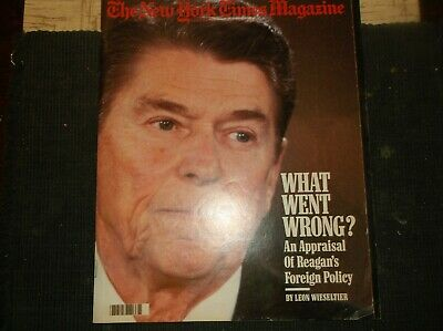 Vintage New York Times Mag Sunday Dec7,1986 REAGAN'S FOREIGN POLICY/Subs/Sacred