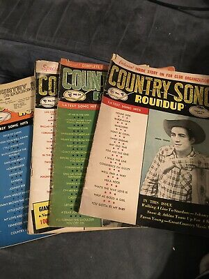 VTG  Country Song Roundup magazine  lot of 4—1954, 1955, 1956, And 1960 Issues