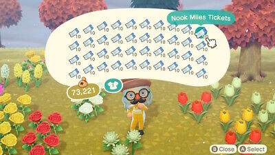 🏖✈️🏝 400 Nook Miles Tickets (Animal Crossing New Horizons) 🌲🐟🦉🌸🦝🦋