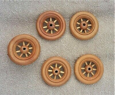 "5-Spoke Wood Wheels Toy Parts Antique Reproduction 1 7/8"" Diameter"
