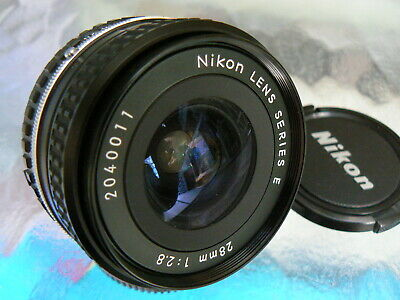 Nikon Series E 28Mm F2.8 Ai-S Wide Angle Lens Manual Focus W/ Instructions *Mint