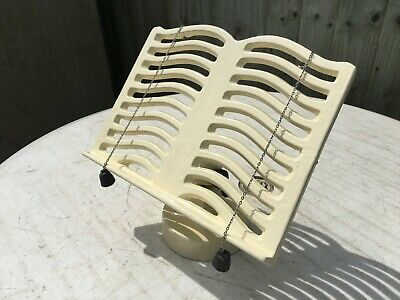 Vintage VICTOR Cast Iron Recipe / Cook Book Holder in Cream - Made in England