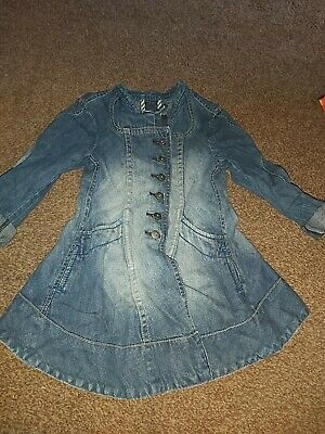 Girls Denim jacket / coat Age 3/4 Years