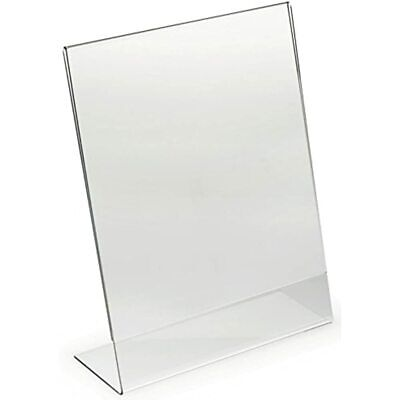 Dazzling Displays 3-pack Acrylic 8.5 X 11 Slanted Sign Holders Office Products