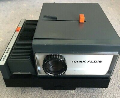 Rank Aldis 2000 Slide projector with 2 off 36 slide magazines in original box