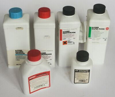 Lot of Ilford Darkroom Developer Chemicals Fixer Washaid some sealed