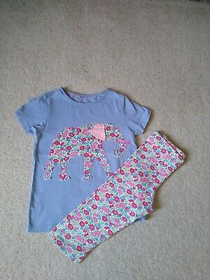 Girls Mini Boden Elephant T Shirt And Matching Leggings Age 5-6-7
