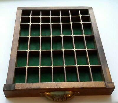 Collectibles display drawer, Minatures Display Shelf, Wooden, Wall Hanging
