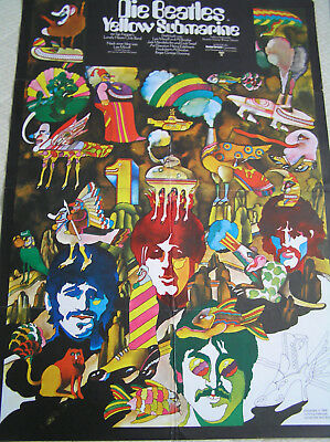 "The Beatles    ""Yellow Submarine""    Original A1 Kinoplakat"