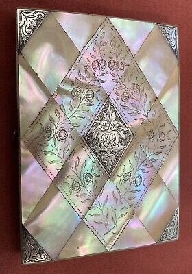 Victorian Calling/Visiting Card Case Mother Of Pearl