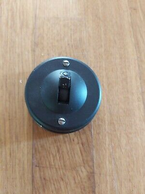 Vintage Bakelite Light Switch Antique Art Deco Old Toggle Dolly Crabtree