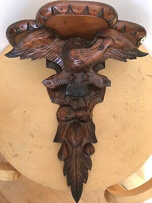 Carved Eagle Clock Bracket