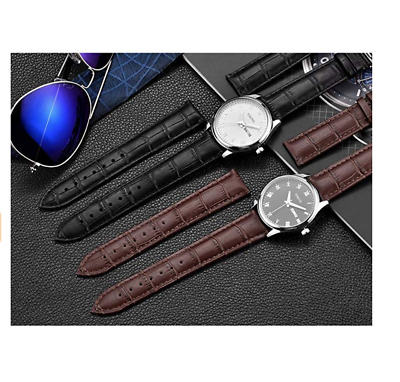 Watch Strap replacement Black Brown Mens Ladies Unisex SOFT Leather Band 8-22mm