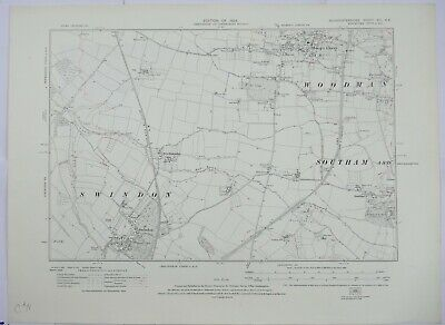 1924 OS 6 inches to a mile Map of Gloucestershire – Swindon XIXSE