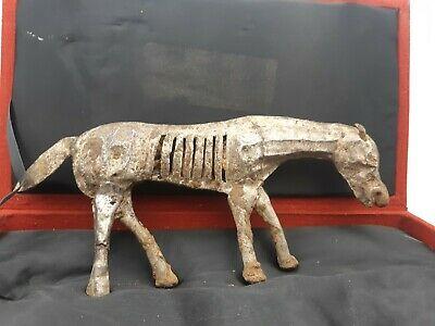 Ancient Antique Chinese Eastern Solid Silver Horse Ornament Statue Toy Figurine