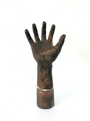 Vintage Industrial Antique Decorative Cast Iron Hand Sculpture Curio