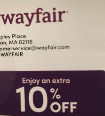 WAYFAIR: 10% Off Your First Order - Coupon Code Expires July 15, 2020