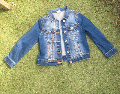 ZARA GIRLS Blue Denim Distressed Cotton Jacket. Age 6 RRP £30
