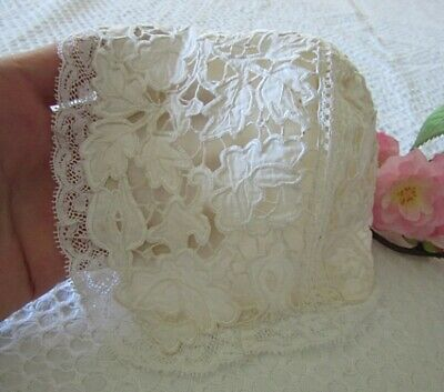 Antique Hand Made French Baby's Dolls Christening Bonnet - Richelieu Embroidery