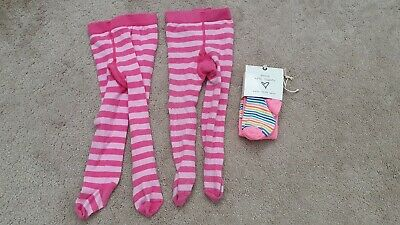 NEXT 3 Pairs Of Stripy Tights - 1 BNWT - Size 12-18 Months