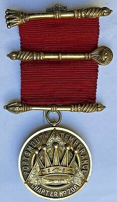 Masonic Jewel PZ Portsmouth Temperance Chapter 2068 HM Silver 1924