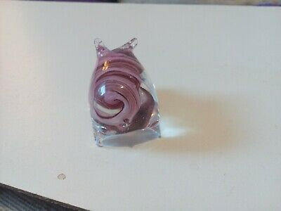 small clear glass pig ornament