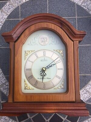 Tempus Fugit Acctim Radio Controlled Mantel Clock Wooden Case Westminster Chimes