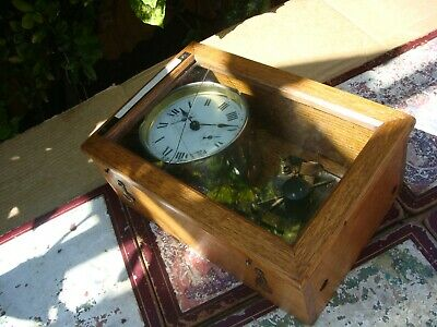 Vintage  H A c  German  Timepiece Mantle  Clock   For Spare Or Repair