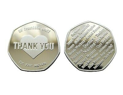 """Thank You UK Frontline Staff"" / NHS Key Workers - Commemorative Coin"