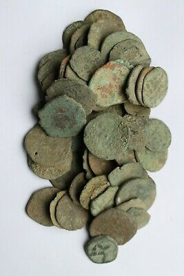 75 Uncleaned Byzantine Mainly Large Coins 7/11th century AD