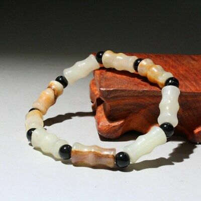 Collectable China Natural Old Jade Hand-Carved Bring Auspicious Hand Catenary
