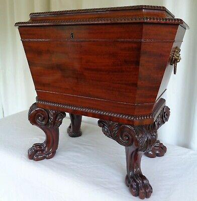 A Fine Regency Mahogany Wine Cooler / Antique Cellarette