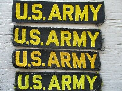 US Army Vietnam War Period U.S. ARMY Black Tapes with Yellow Lettering Lot of 4