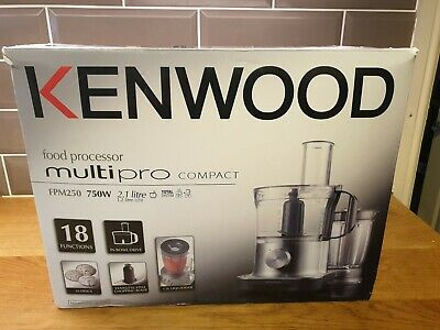 Kenwood Food Processor 18 functions FPM250 MultiPro Compact 750W 2.1L