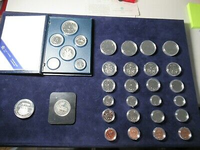 Lot: 32 Canada Proof Coins, Sets of 1981 1982 1983 1984 1986 + 2 Commemoratives