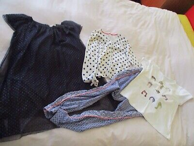Small Bundle Girl Clothes Dress Top Cardigan Trousers Johnnie B Boden Zara 11-12