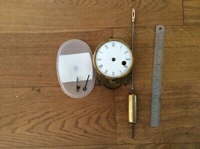 Drop Dial Chain Driven Fusee Clock Movement With Dial Pendulum & Hands