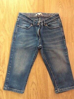 Girls Marks and Spencer blue cropped denim jeans 10 years