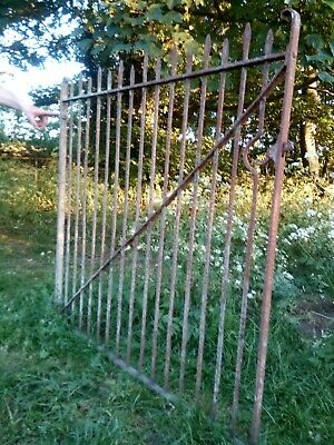 Antique Handmade Wrought Iron Farm Estate Pedestrian Single Gate