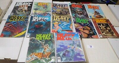 Heavy Metal Magazine Complete 3rd Year January-December 1979 Lovecraft Oct LOT 7