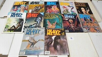 Heavy Metal Magazine 1981 Complete Year September Taarna May July Giger LOT 9