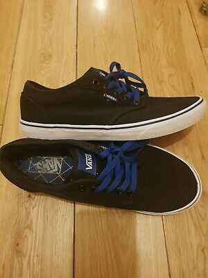 "VANS ''Off The Wall"" Black with Blue Laces Size: UK 9  EU 43, US 10"