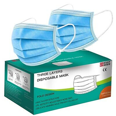 3 Layer Extra Protective face masks box of 50