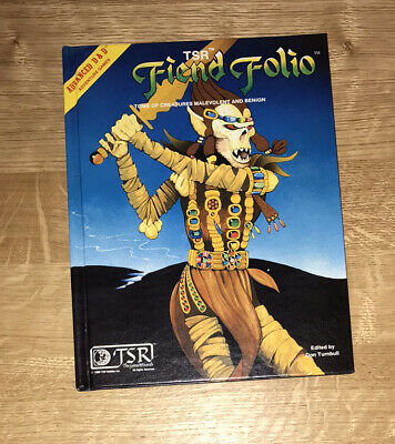 Advanced Dungeons And Dragons Fiend Folio Beautiful Condition!!