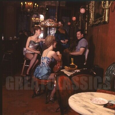 Gaslight Club Dancers 1962 Life Mag 2 1/4 Camera Transparency By Milton Greene