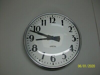 """Vintage 1949 13"""" Standard Electric Time Co School House Wall Clock"""