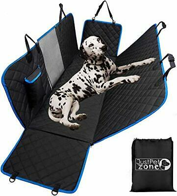 Dog Hammcok for Car Back seat with Mesh Visual Window, Side Flaps with Zipper,